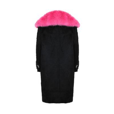 color fur detail coat black